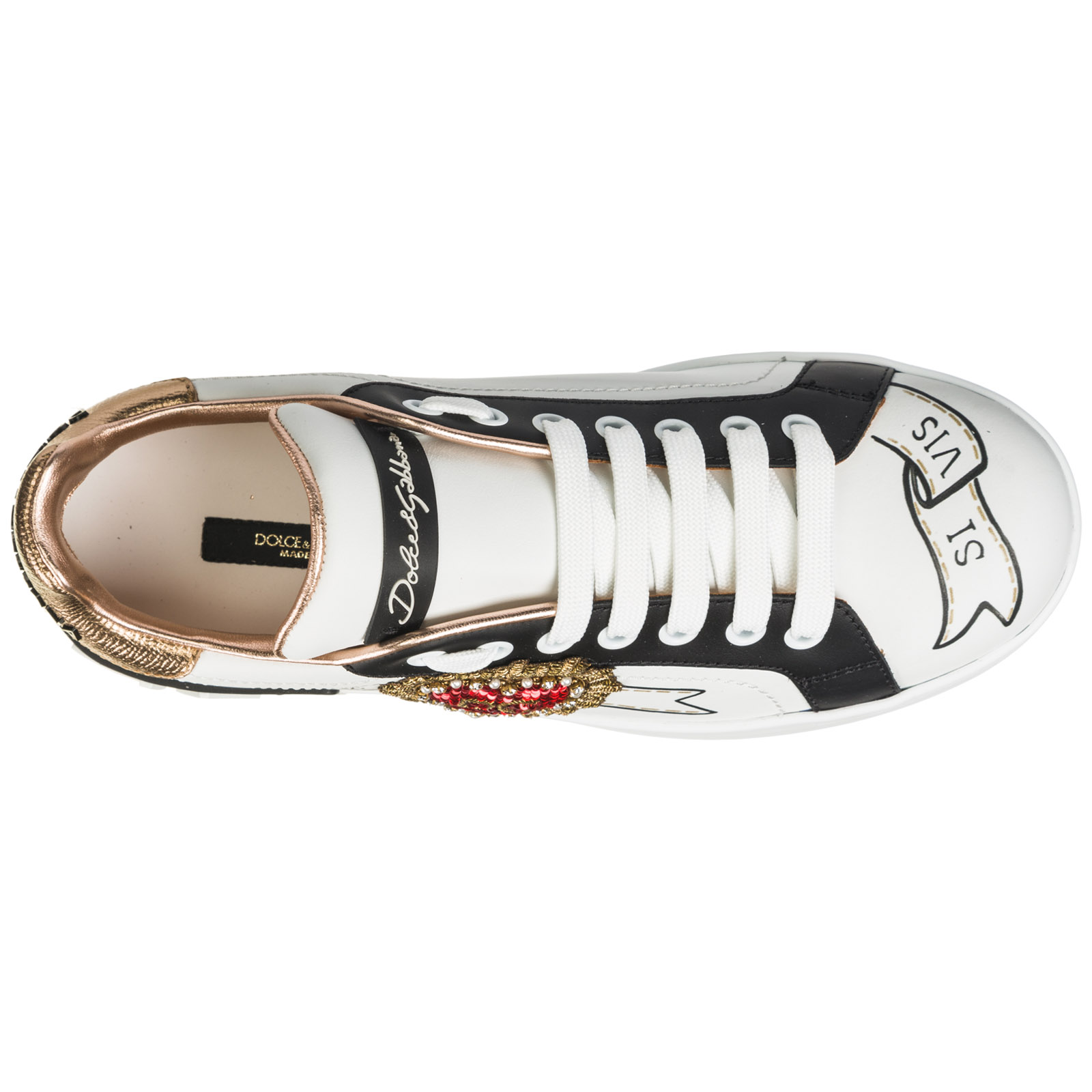 Women's shoes leather trainers sneakers portofino