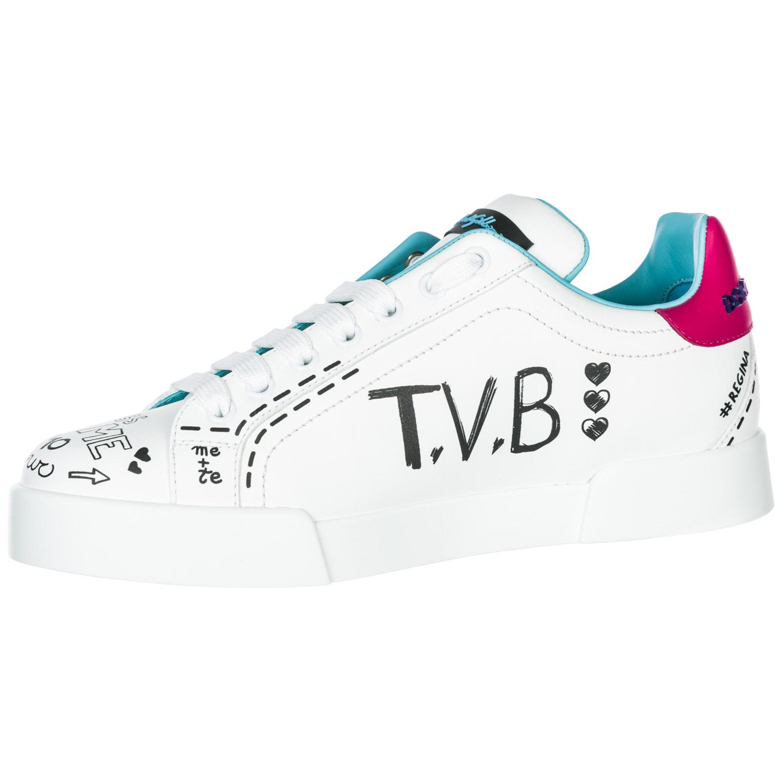 8e028f25dfe1f0 Sneakers Dolce Gabbana Portofino CK1545AU8868E057 bianco   FRMODA.com