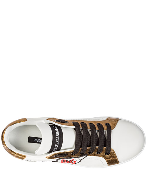 Chaussures baskets sneakers femme en cuir portofino secondary image