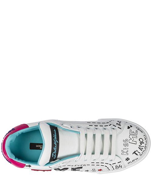 Zapatos zapatillas de deporte mujer en piel portofino secondary image