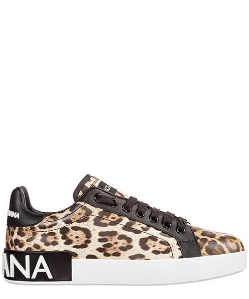 Sneakers Dolce&Gabbana Portofino CK1570AA990HK13M leo macchia marrone