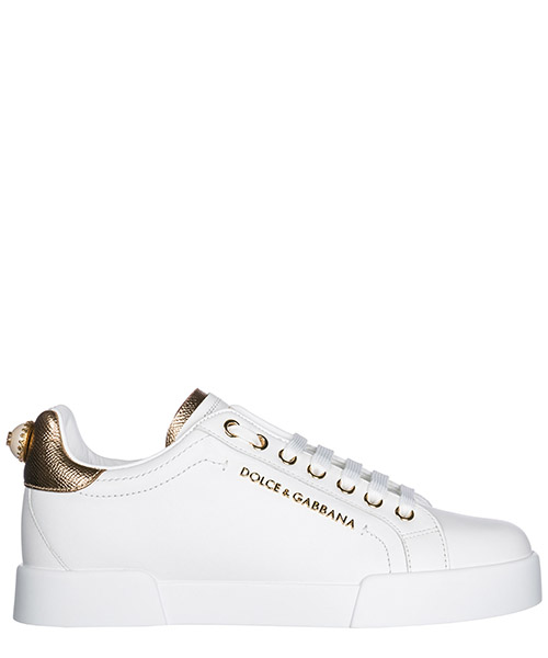 Zapatos zapatillas de deporte mujer en piel portofino