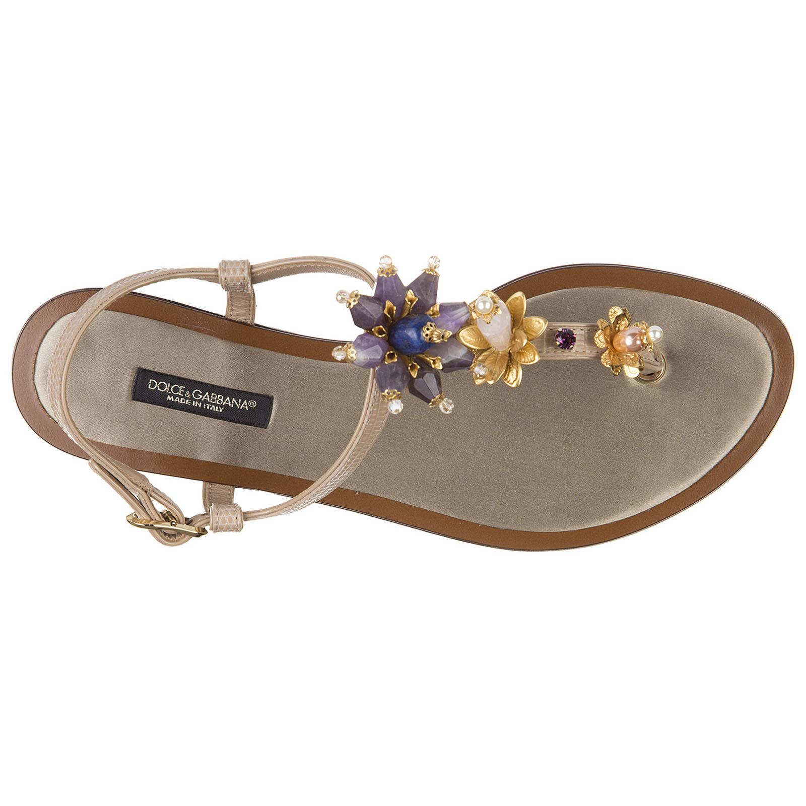 Women's leather flip flops sandals  stromboli stampa iguana vernice