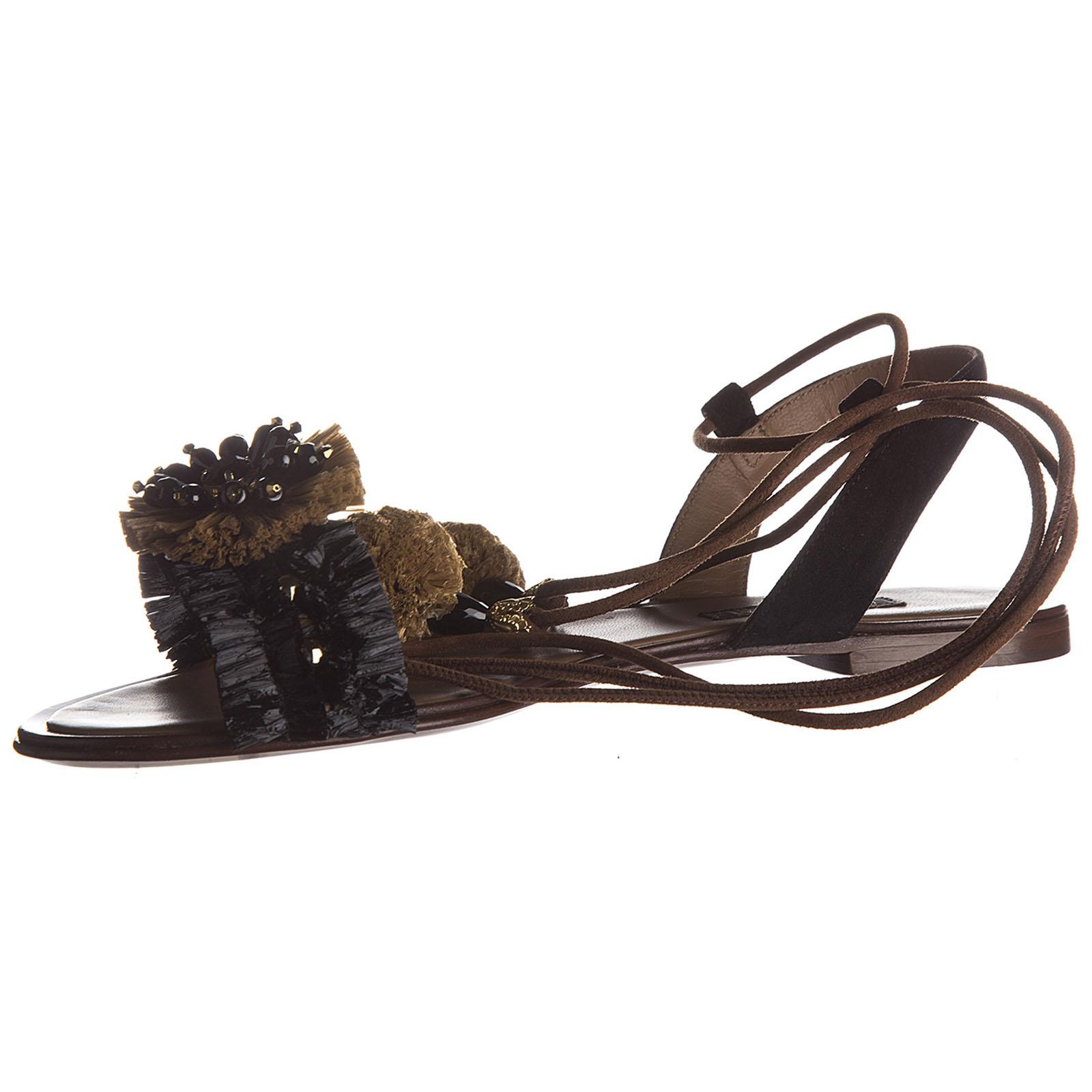 сандалии женские кожаные
