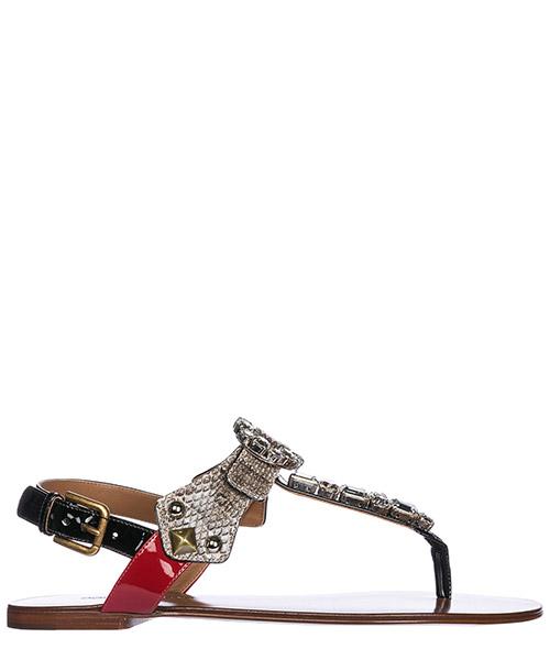 Sandali infradito Dolce&Gabbana CQ0185AH5698M060 roccia / nero