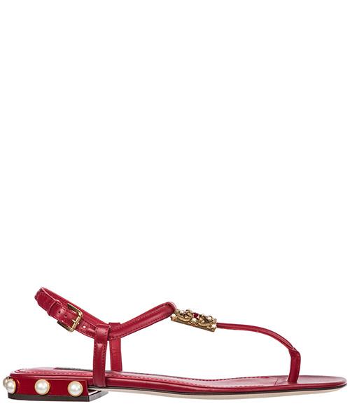 T-bar sandals Dolce&Gabbana DG Amore CQ0241AI57387124 rosso papavero
