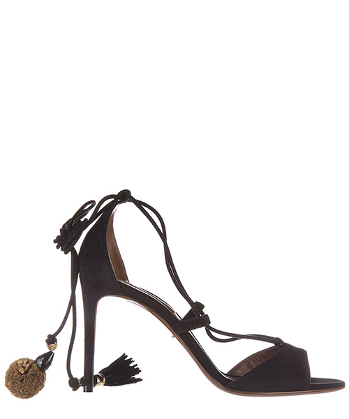 Sandali donna con tacco camoscio