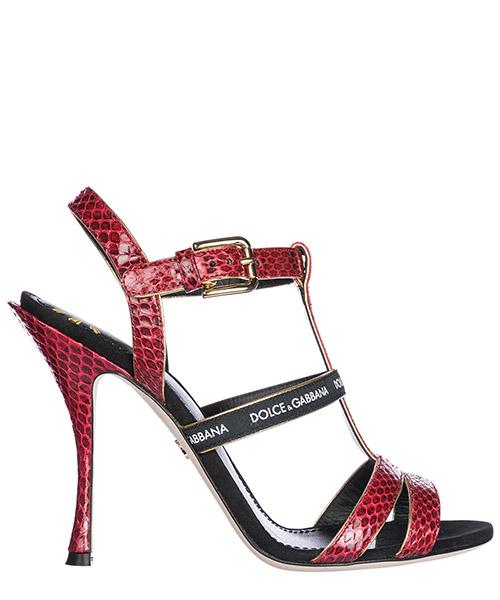Sandali Dolce&Gabbana CR0561AN7838N348 rubino / nero