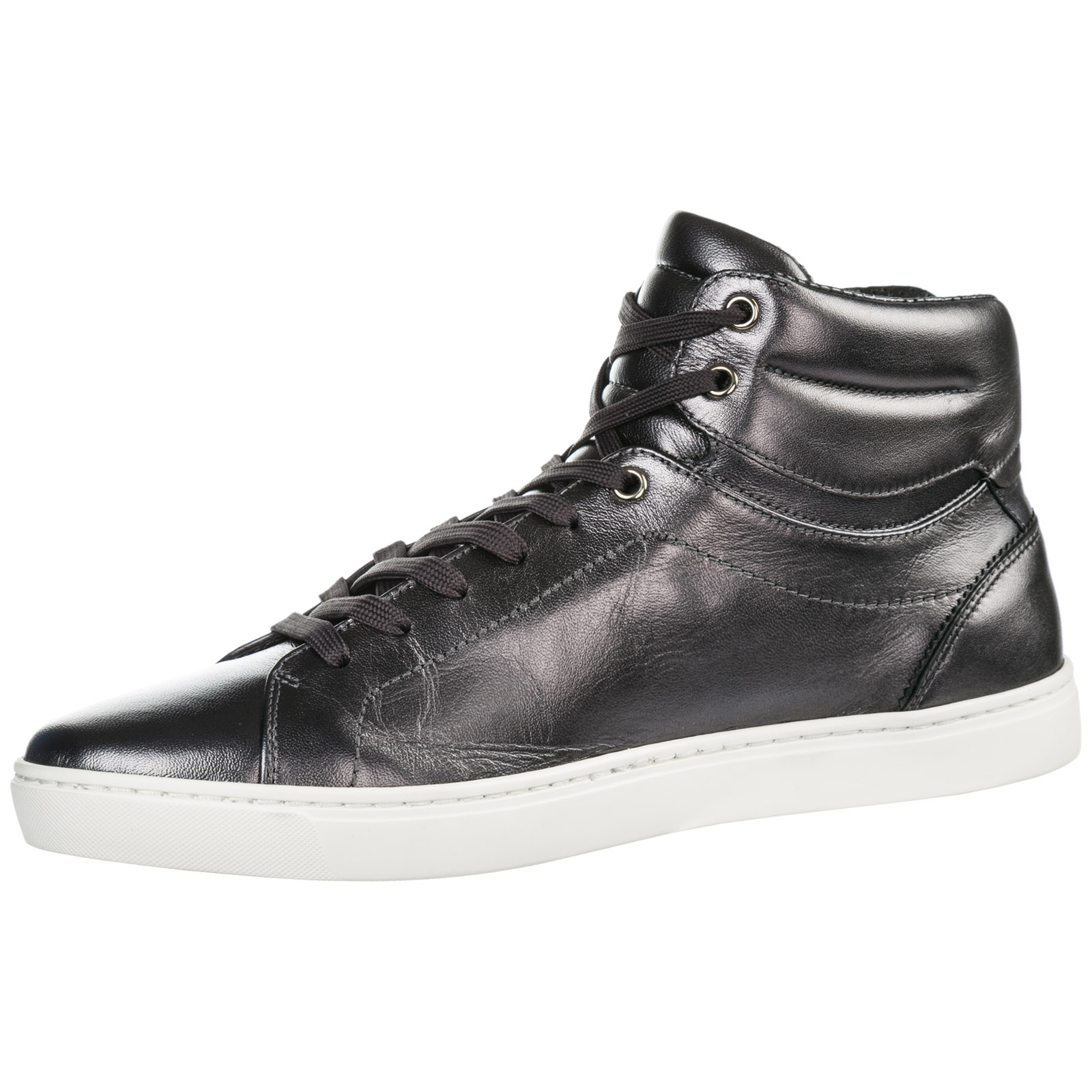 Men's shoes high top leather trainers sneakers mordorè