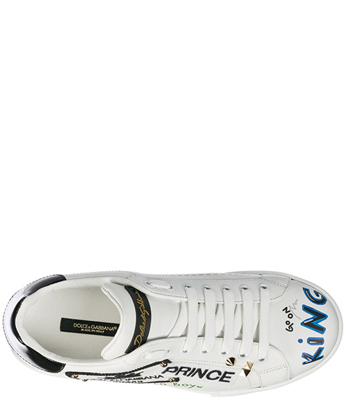 Men's shoes leather trainers sneakers portofino secondary image