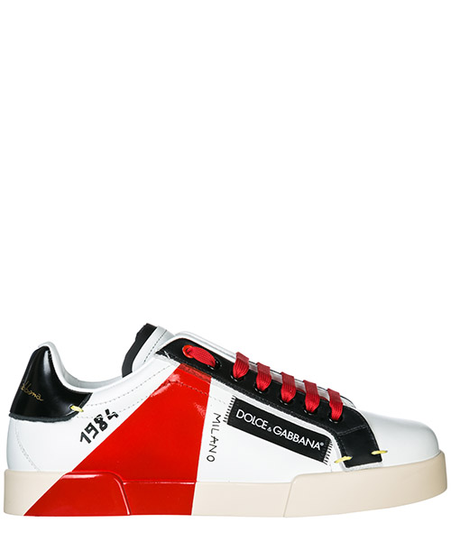 Sneakers Dolce&Gabbana Portofino CS1613AU45189926 bianco / rosso