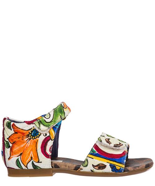 Sandale Dolce&Gabbana D20024A6515HW681 maiolica / giglio