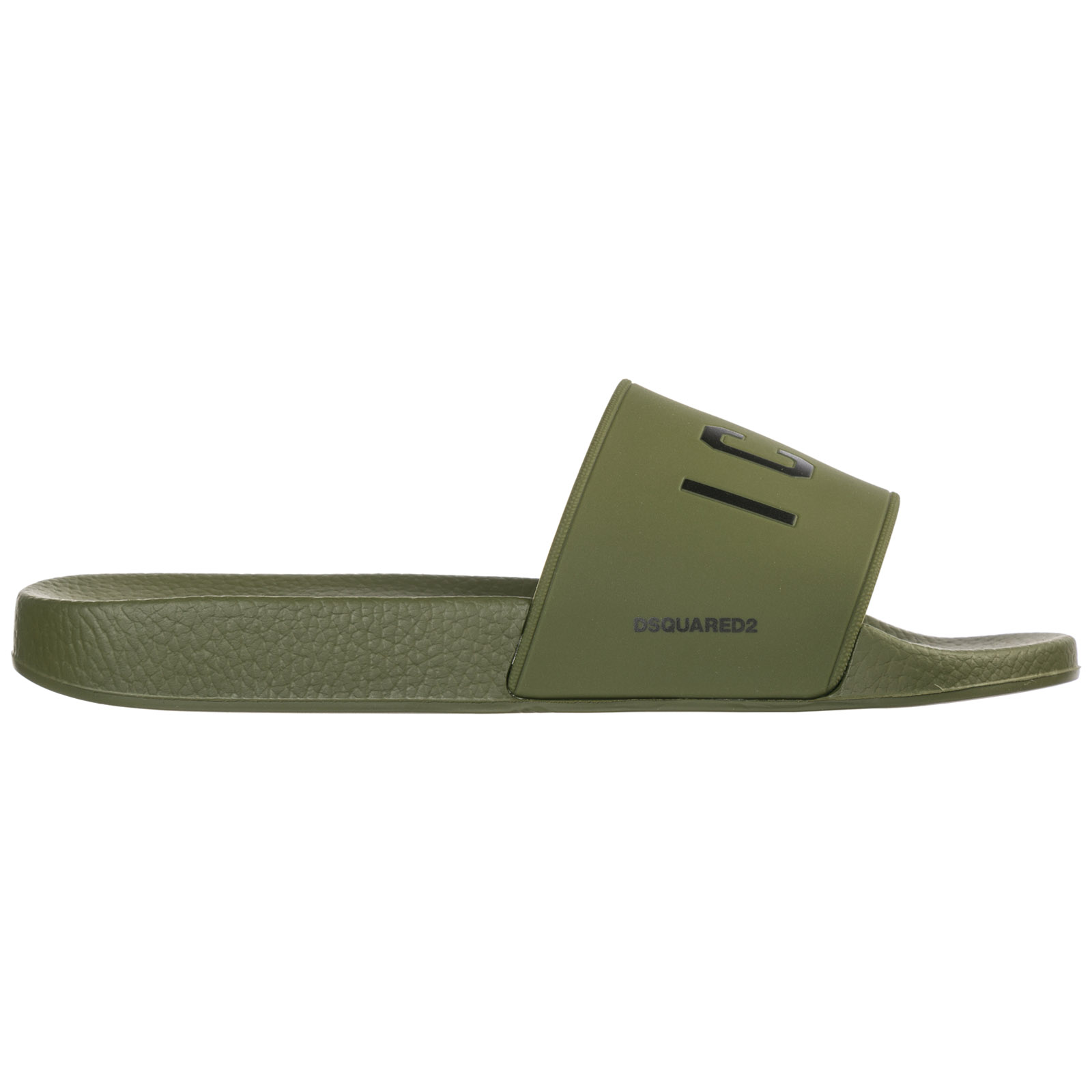 Dsquared2 Men's Slippers Sandals Rubber  Icon In Green