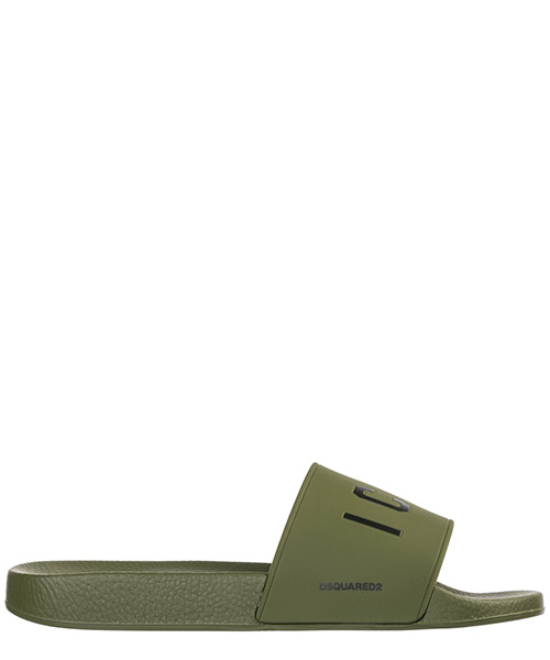 Slides Dsquared2 Icon FFM010217200001M682 verde
