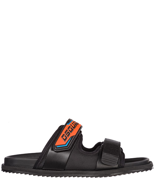 Slides Dsquared2 Flat Sandals FSM002608101807M413 nero arancio