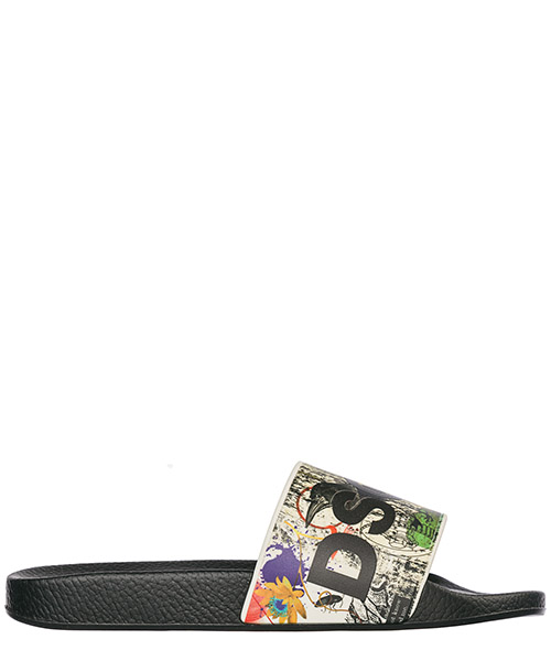 Pantoletten Dsquared2 SLM000817200001M1165 nero + multicolor