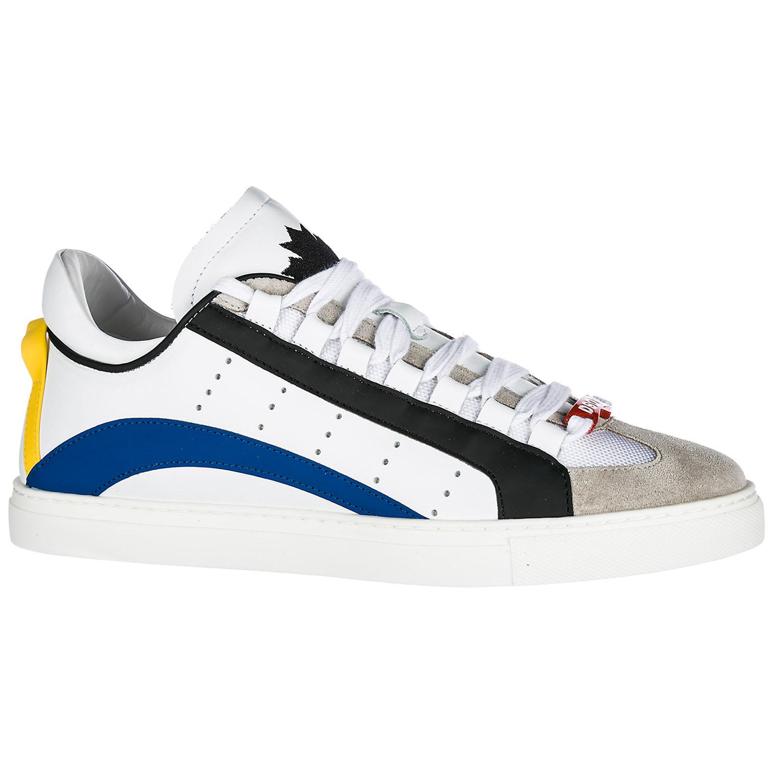 Hogan Rebel zapatos zapatillas de deporte hombres en piel nuevo r260 allacciato blanco EU 44 HXM2600X530FMZ0001 TnJlLKogF