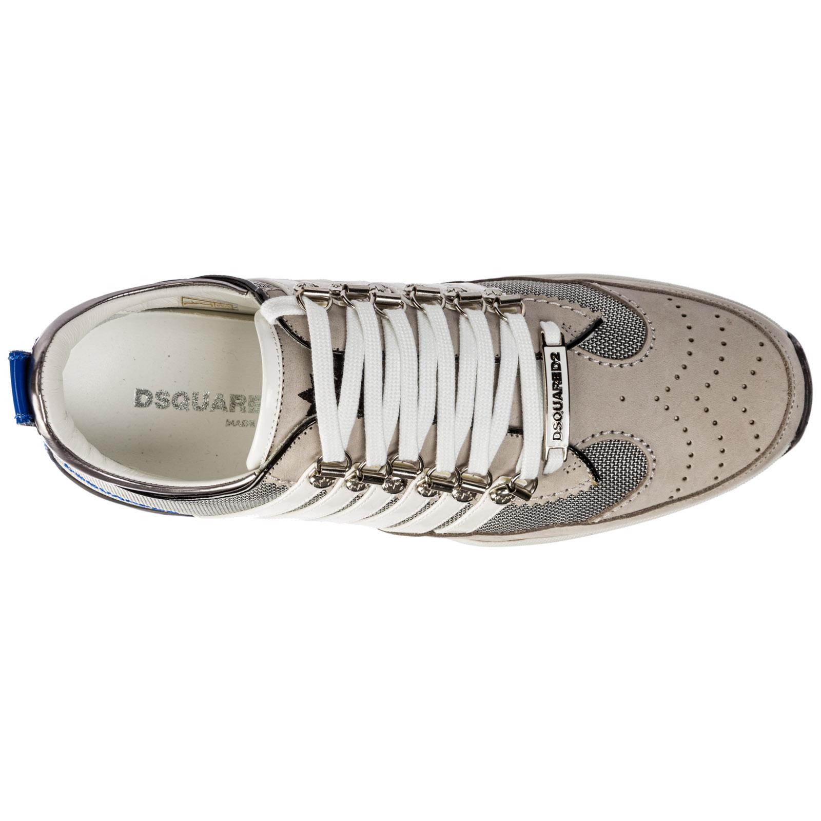 Dsquared2 Herrenschuhe Herren Leder Schuhe Sneakers 251 Weiß