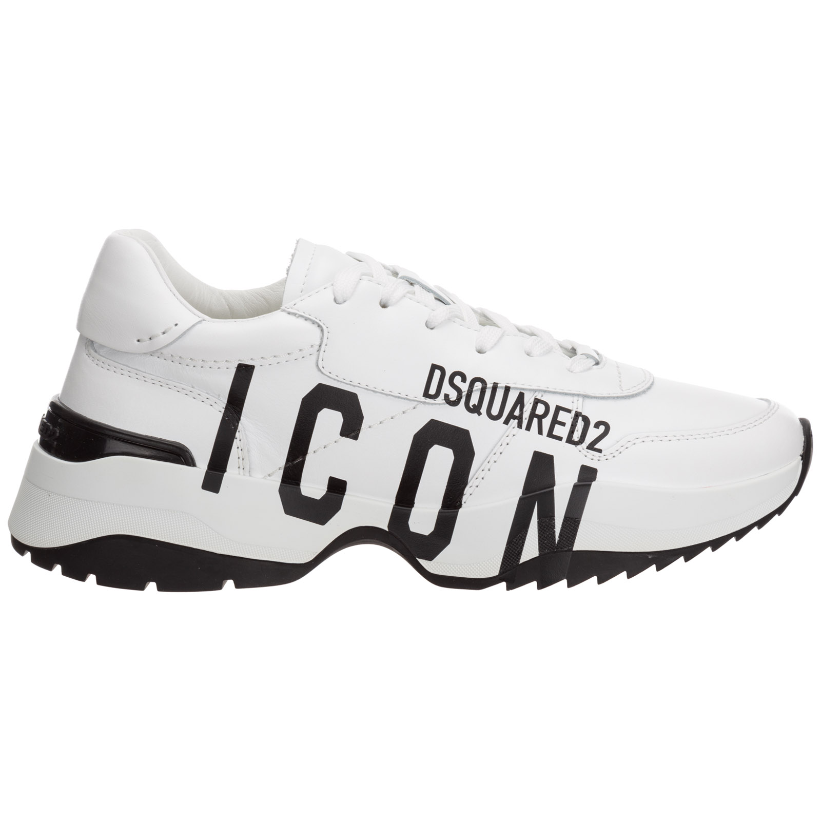 DSQUARED2 MEN'S SHOES LEATHER TRAINERS SNEAKERS D24 ICON