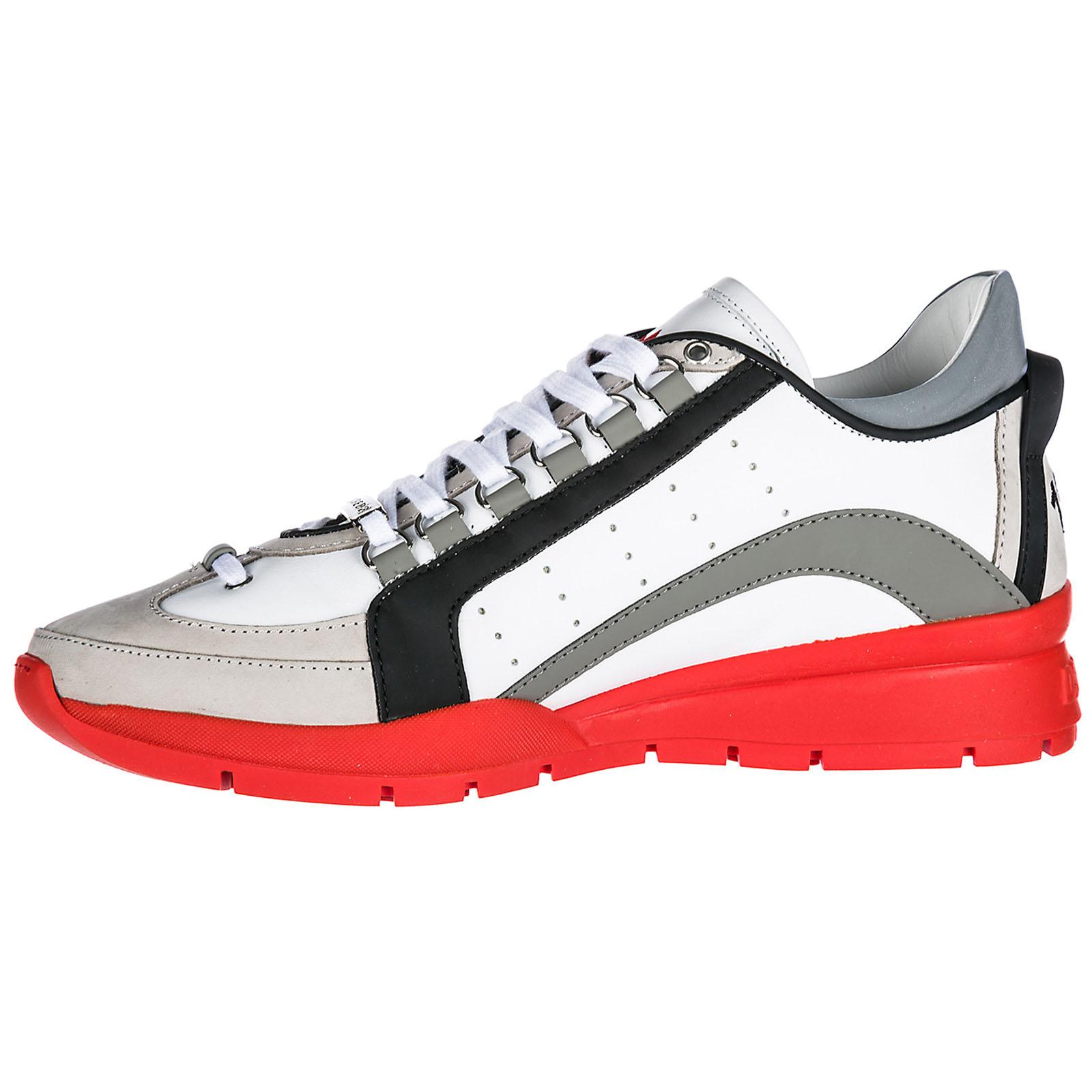 Nuevos Estilos Descuento Fotos Dsquared2 Scarpe Sneakers Uomo in Pelle  Nuove 551 Bianco EU 41 SNM040406500413M043 a78a701a22bb