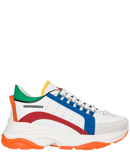 Basket Dsquared2 Bumpy 551 SNM004711570001M1574 bianco + rosso + bianco + arancio