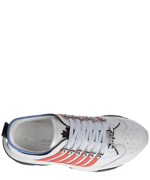 Men's shoes leather trainers sneakers bumpy secondary image