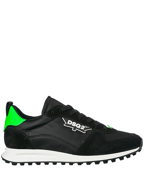 Sneakers Dsquared2 New Runner Hiking SNM011016801758M1434 nero + verde