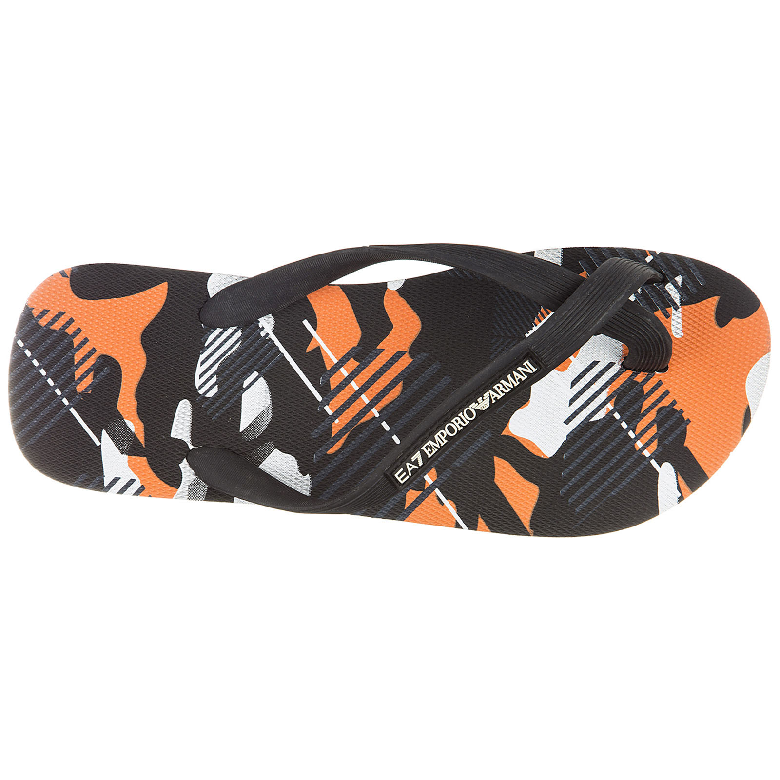 Men's rubber flip flops sandals  sea world camouflage