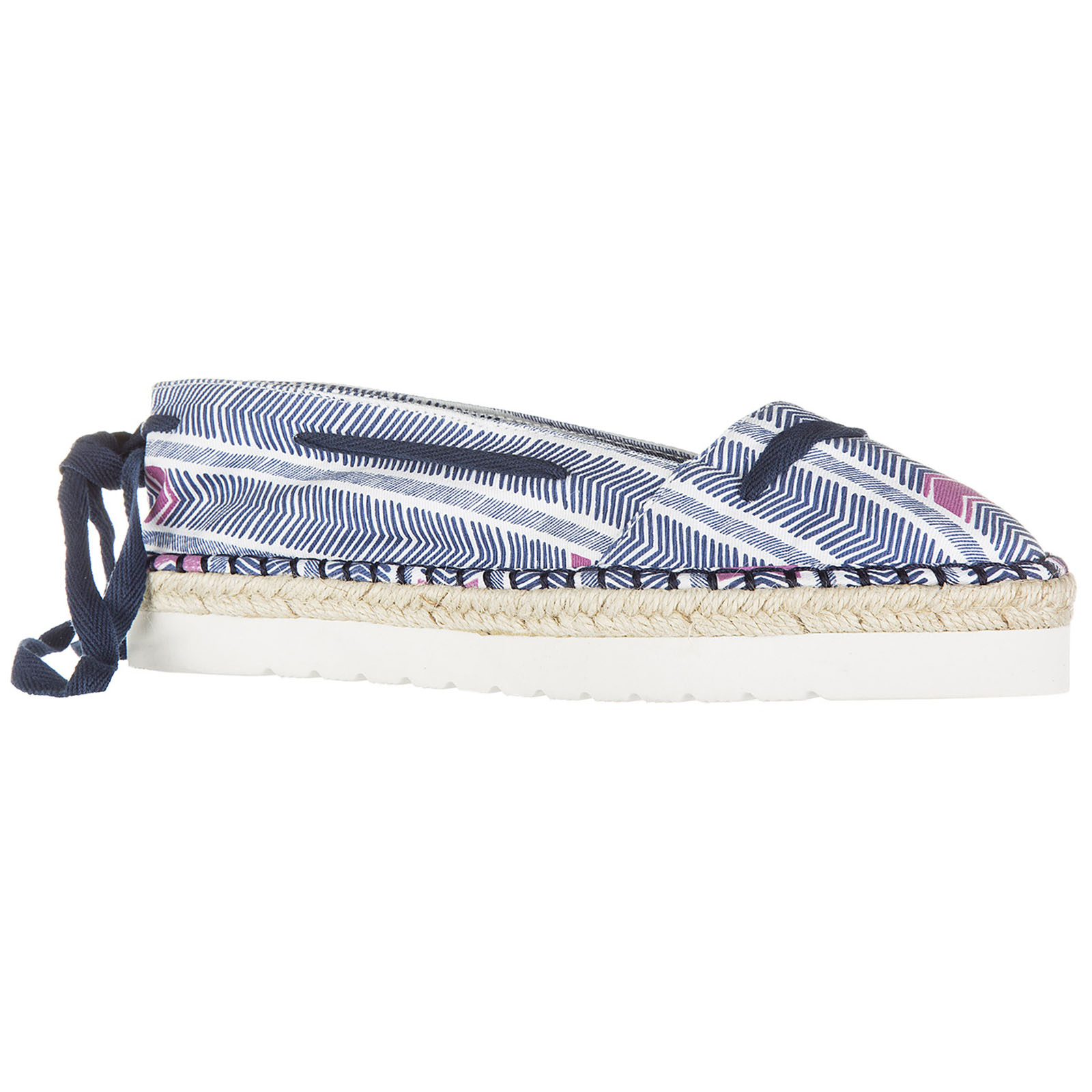 Women's cotton espadrilles slip on shoes mykonos