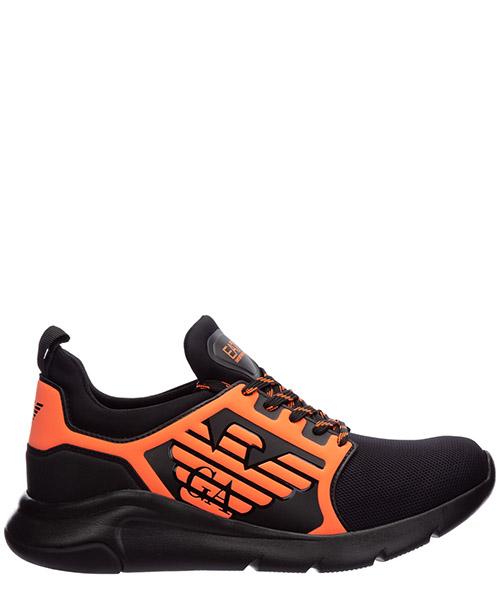 Sneaker Emporio Armani EA7 x8x057xcc55m538 black - orange fluo