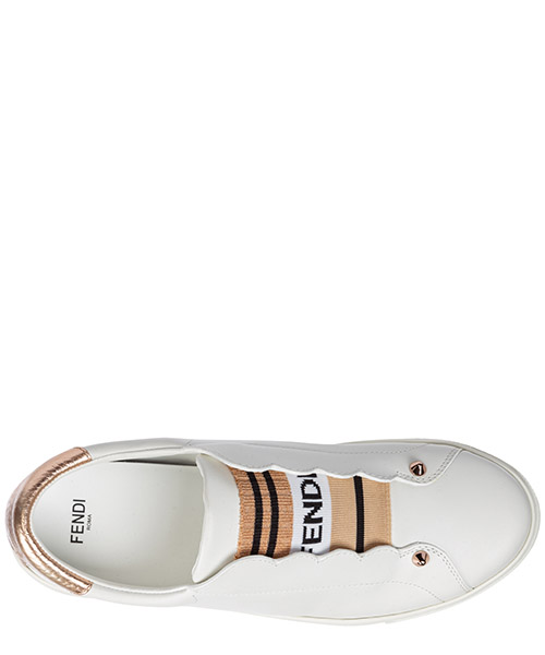 Women's leather slip on sneakers secondary image