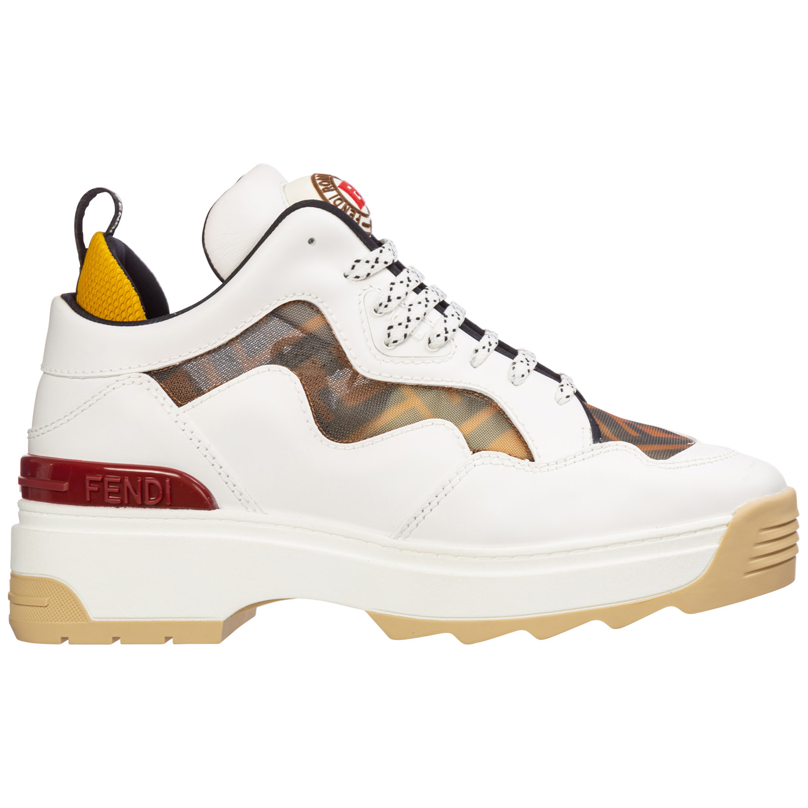 Fendi Sneakers WOMEN'S SHOES LEATHER TRAINERS SNEAKERS