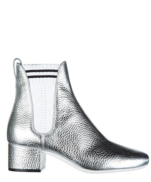 Сапоги на каблуках Fendi 8T6562 99N F09O0 argento + bianco + nero