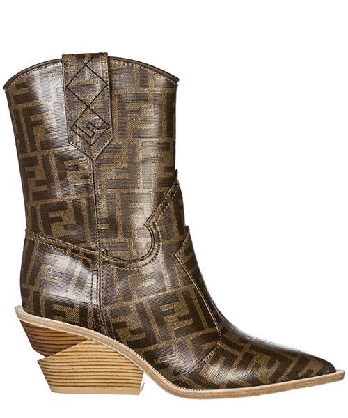 Heeled ankle boots Fendi 8T6785YLZF0CMY mogano panna