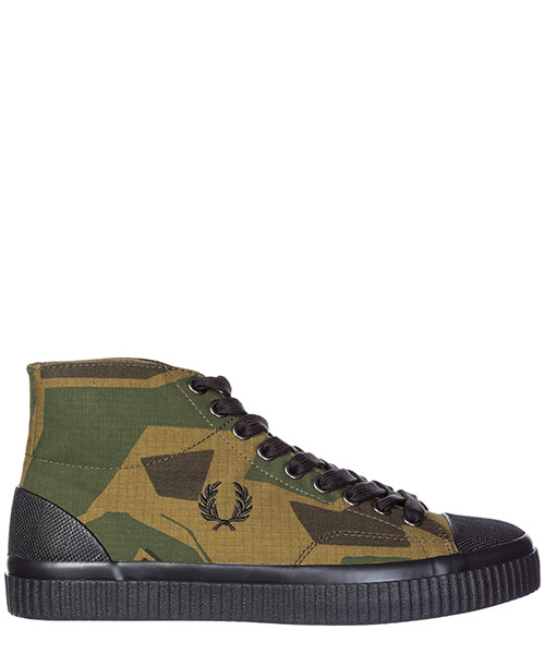 Высокие кроссовки Fred Perry by Arktis Hughes B4138 woodland camo