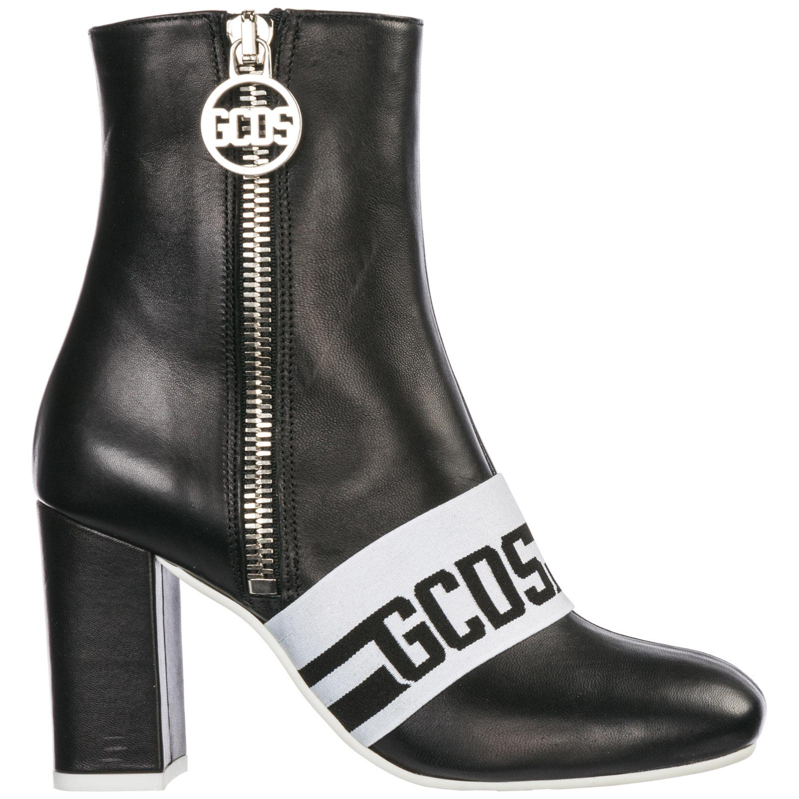 nuovo prodotto 48d92 ef37a Stivaletti stivali donna con tacco in pelle