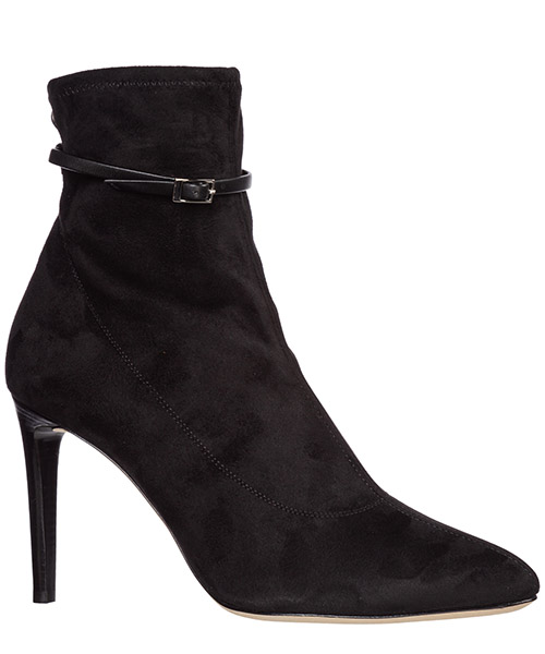 Women's suede heel ankle boots booties secondary image