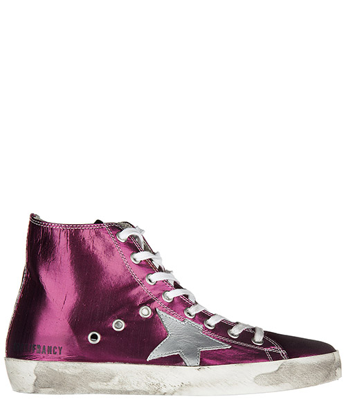 Hohe Turnschuhe Golden Goose G30WS591 A54 strawberry - silver star