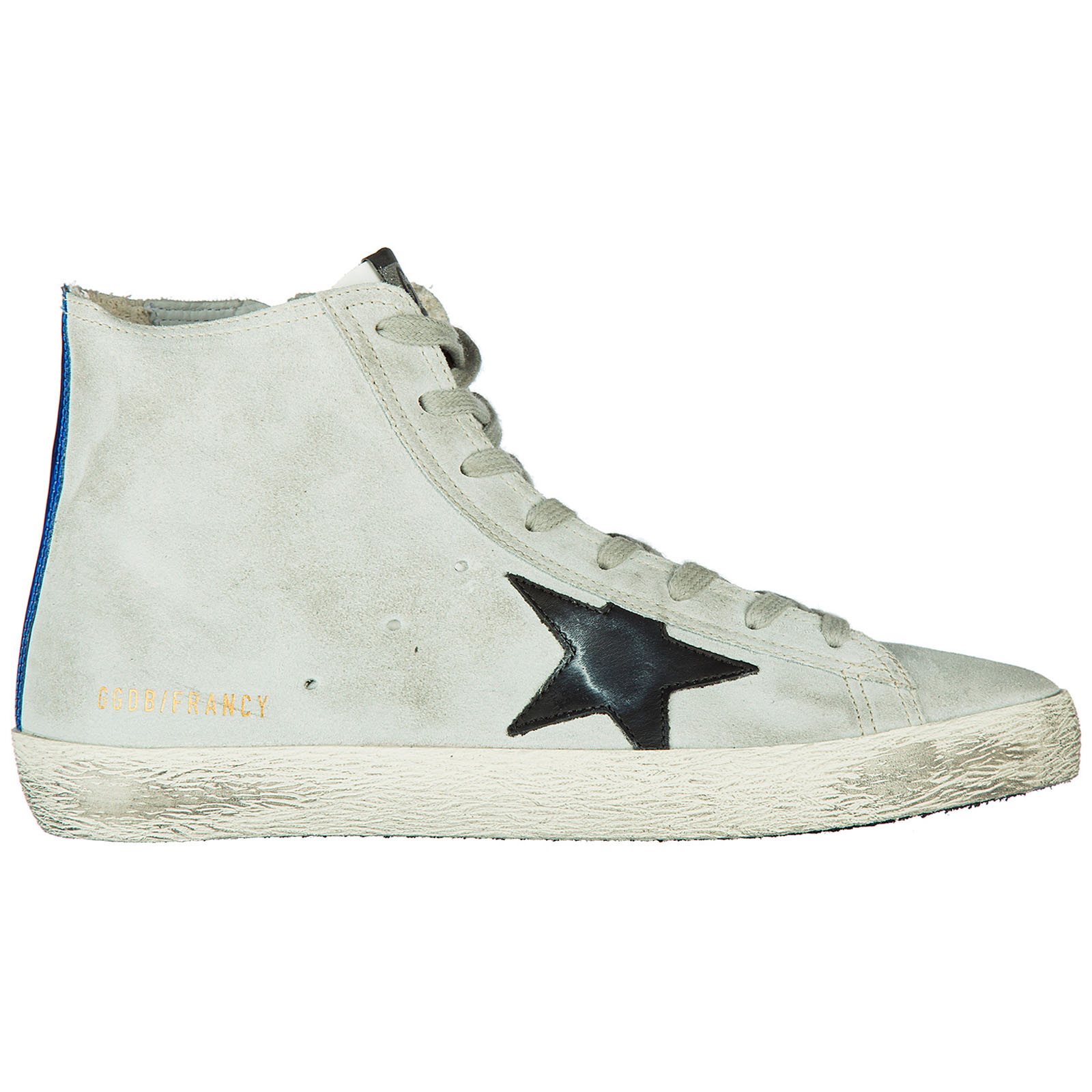 Scarpe sneakers alte uomo in camoscio francy
