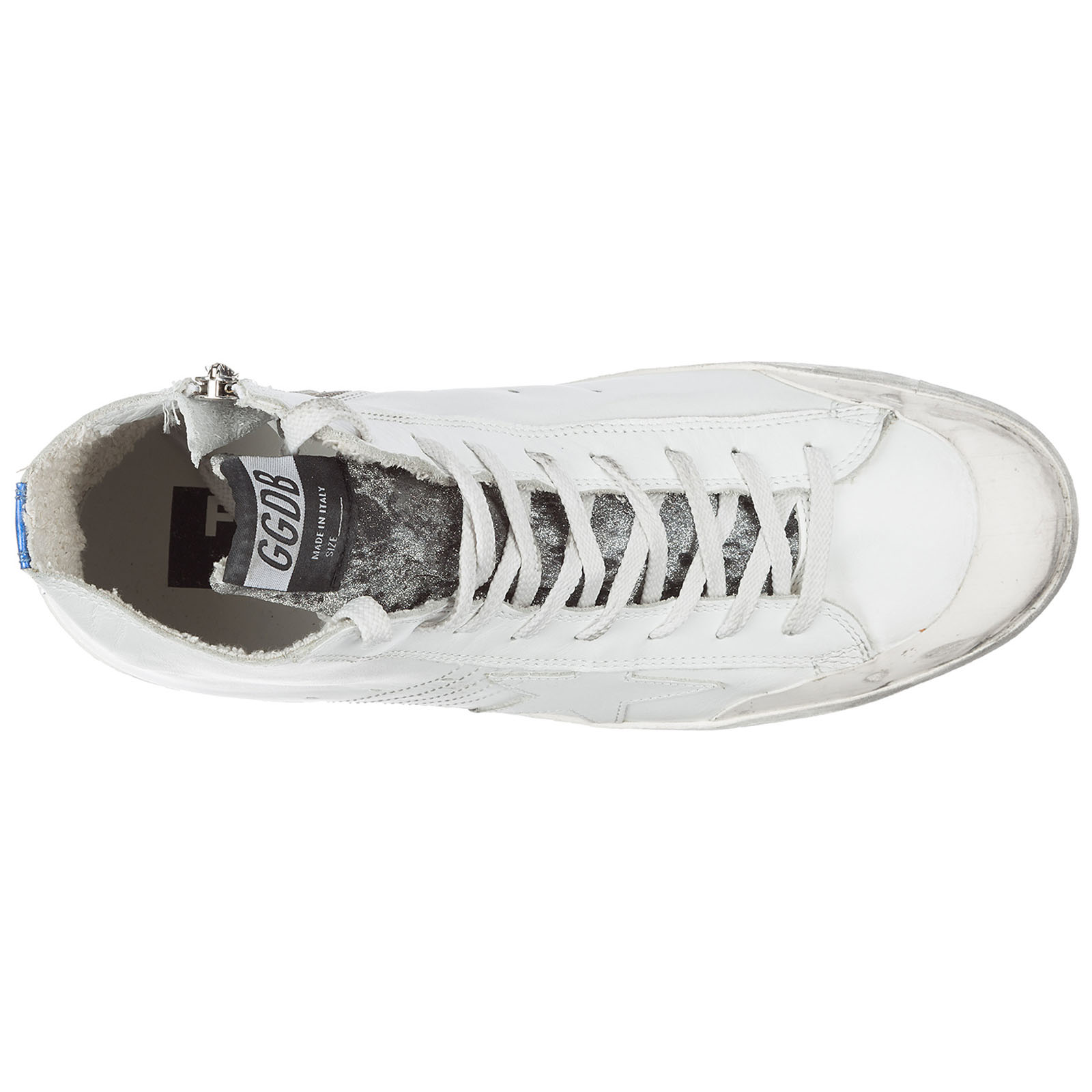 Scarpe sneakers alte uomo in pelle francy limited edition landed