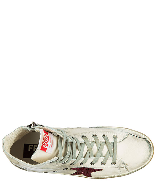 Zapatos zapatillas de deporte largas hombres en piel francy secondary image
