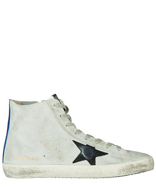 Zapatillas altas Golden Goose G31MS591 A97 pearl suede / traffic light