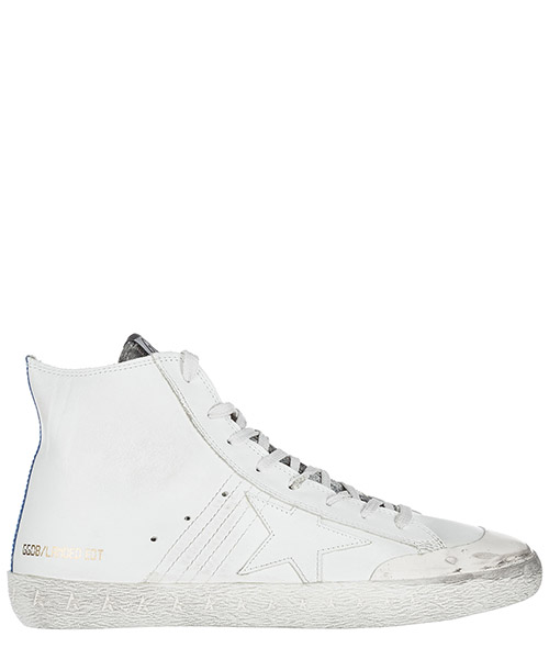 High top sneakers Golden Goose Francy G31MS591 LAN2 whitw leather / landel
