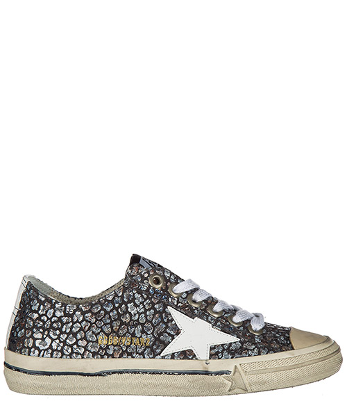Zapatillas deportivas Golden Goose G31WS639 N6 little grey flowers white