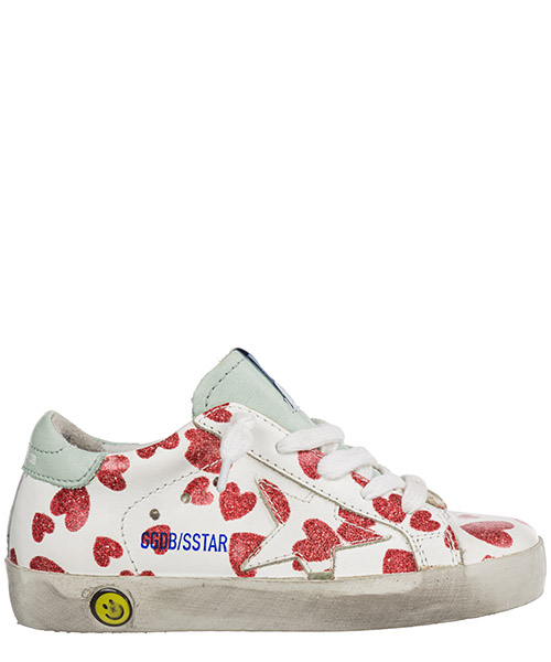 Sneakers Golden Goose superstar g32ks001.a45 bianco