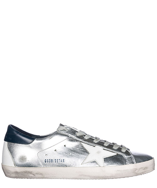 Chaussures baskets sneakers homme en cuir superstar