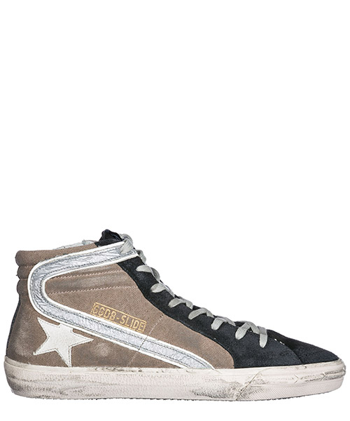 Chaussures baskets sneakers hautes homme slide