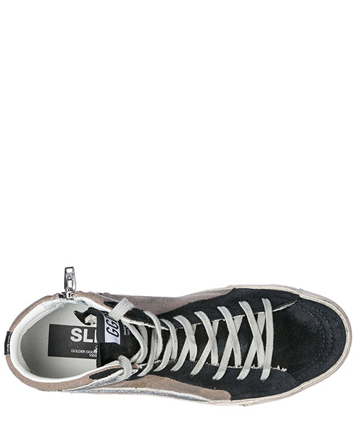 Chaussures baskets sneakers hautes homme slide secondary image