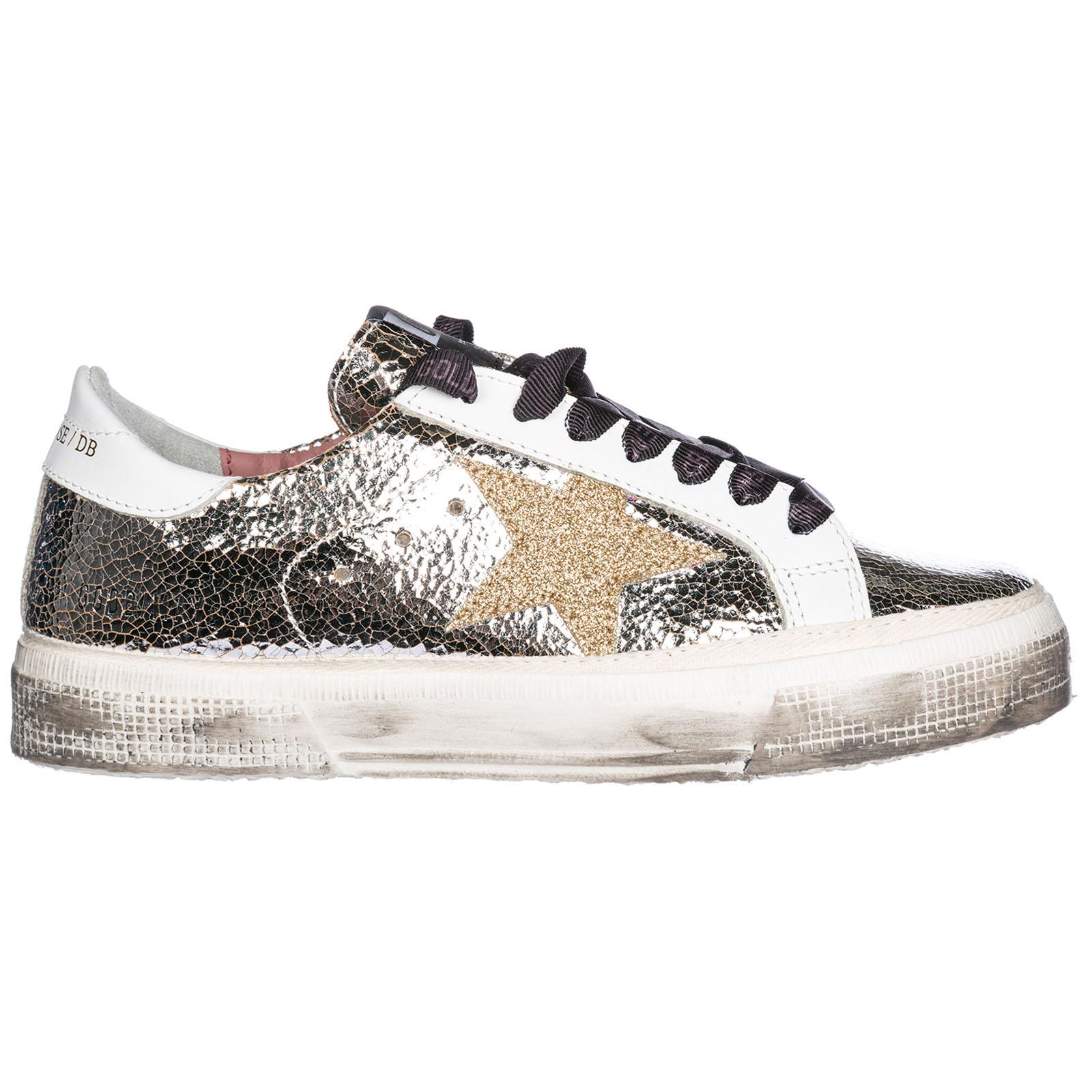 117c9af8c75db4 Sneakers Golden Goose G32WS127.I6 silver crash - gold star