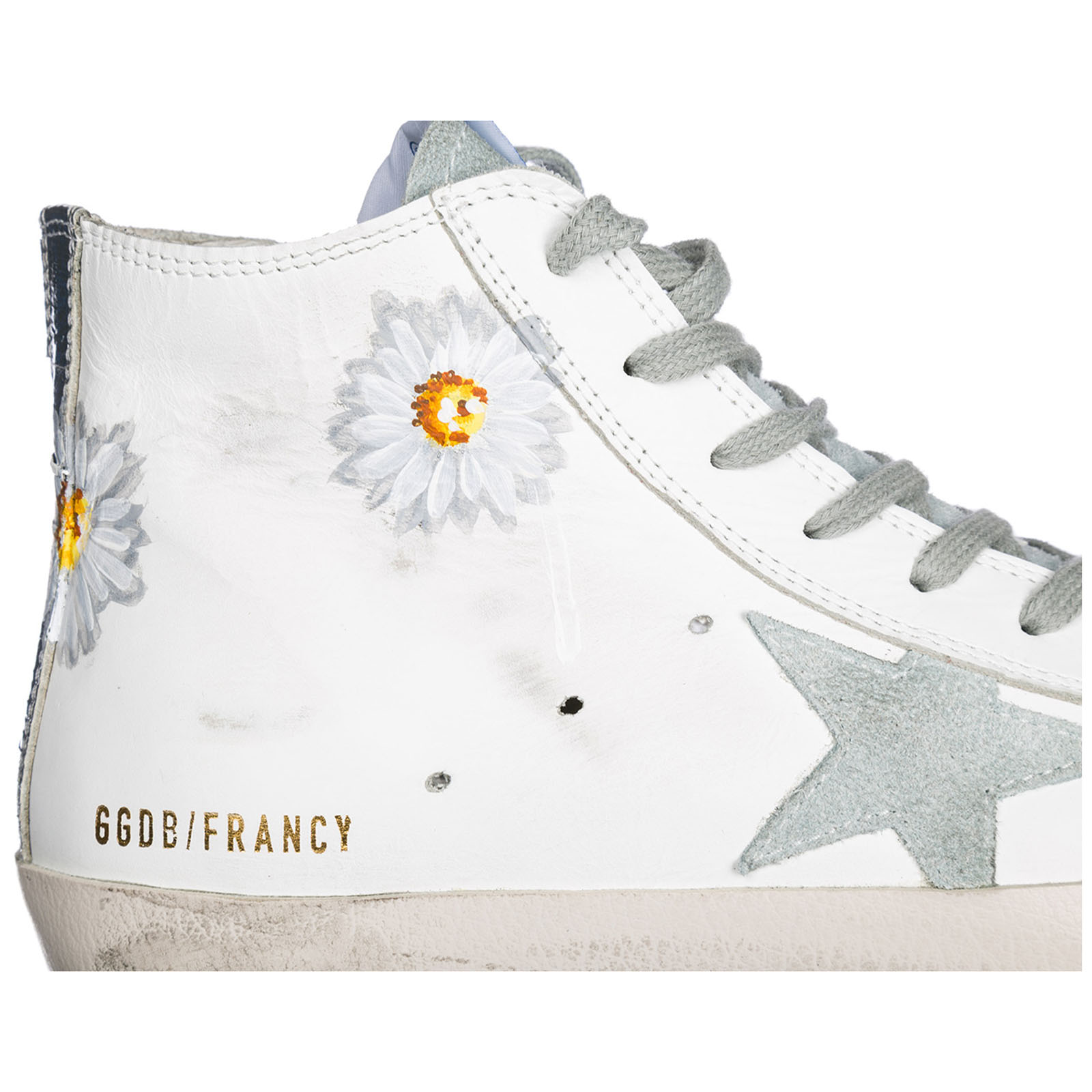Sneakers alte Golden Goose Francy G32WS591.B19 white - hand printed ... 71bf2c738e8